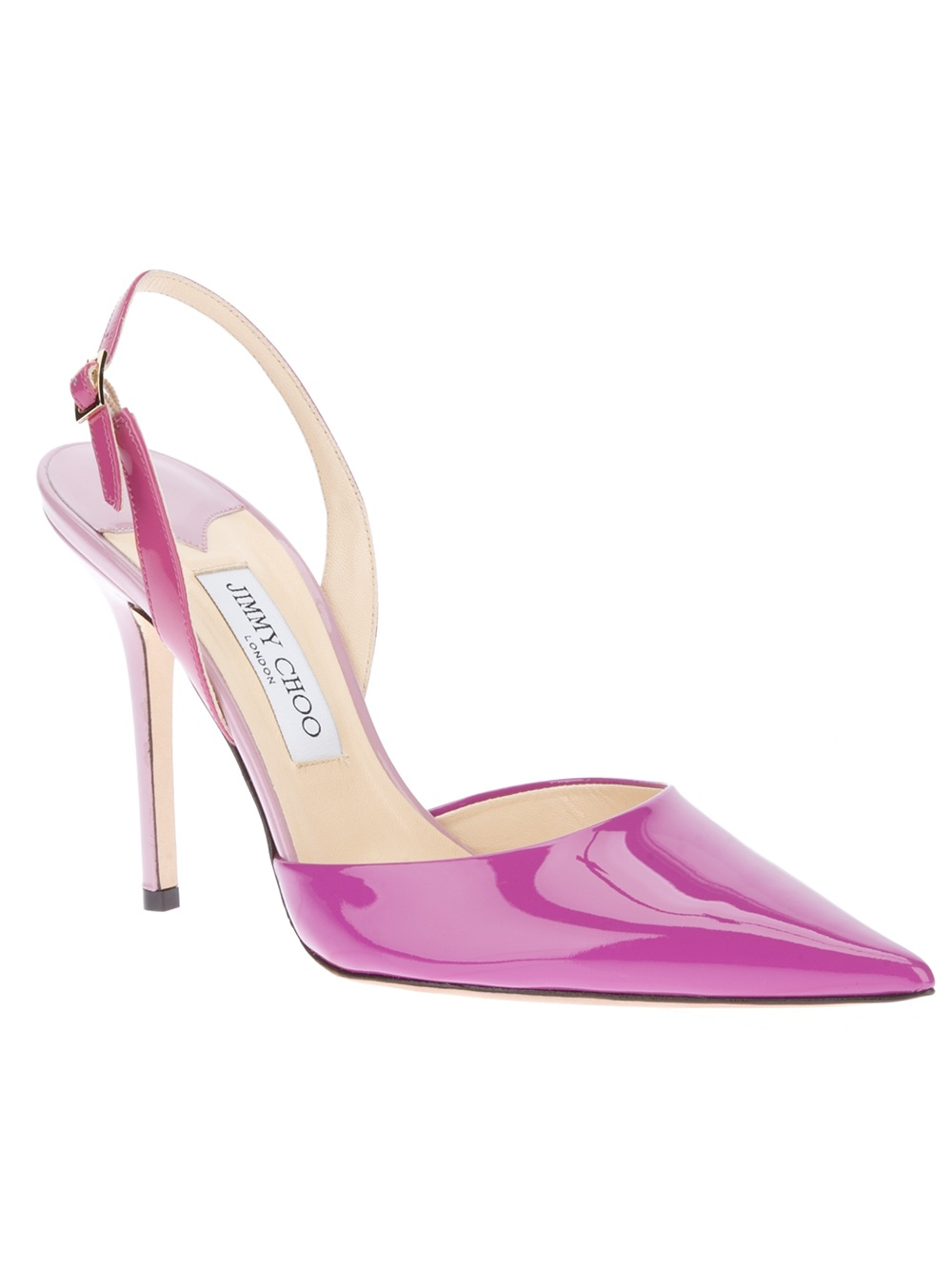 Lyst - Jimmy choo Volt Sling Back Pump in Purple