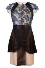 Marios Schwab Short Embroidered Dress - Lyst