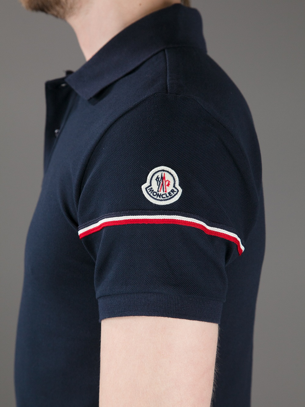 9e7d5c5fb62d Lyst - Moncler Classic Polo Shirt in Blue for Men