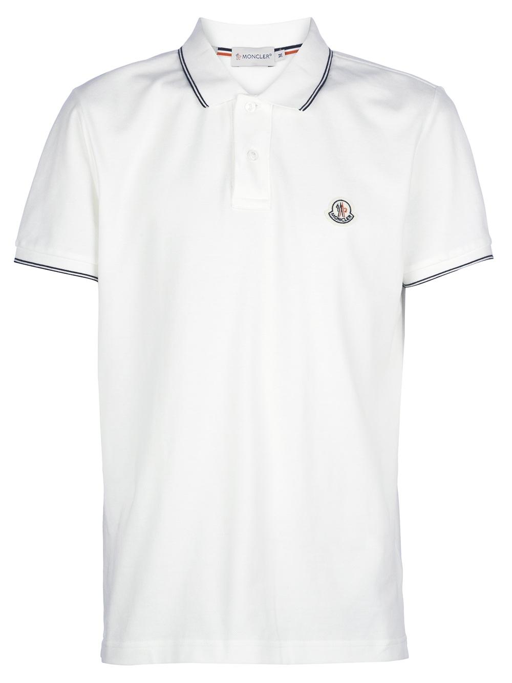 moncler white polo shirt