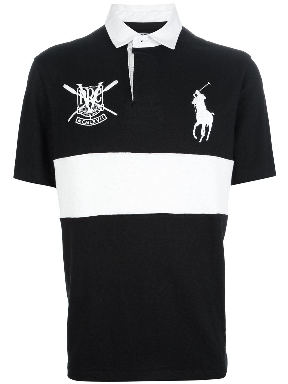 outlet store sale coupon codes crazy price Ralph Lauren Polo Shirt Black White   RLDM