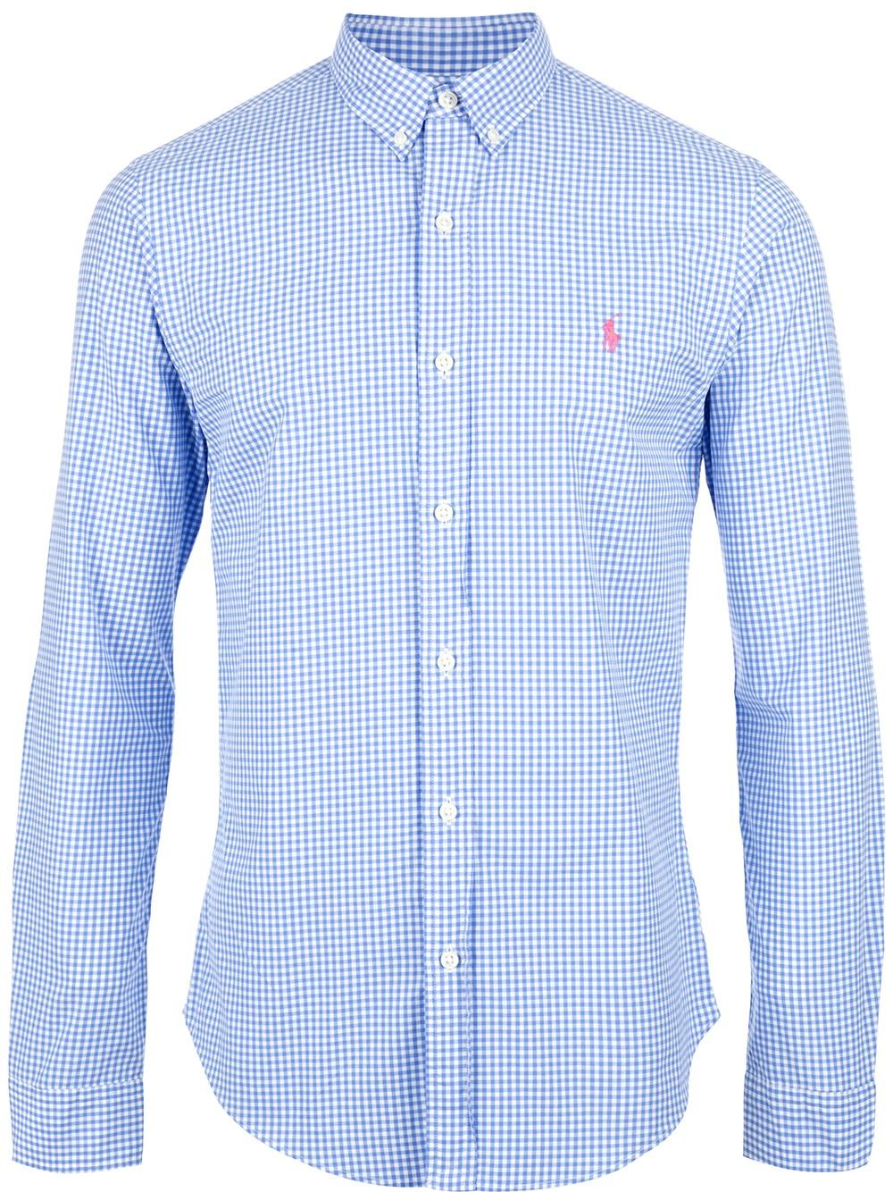 Lyst Polo Ralph Lauren Gingham Shirt In White For Men