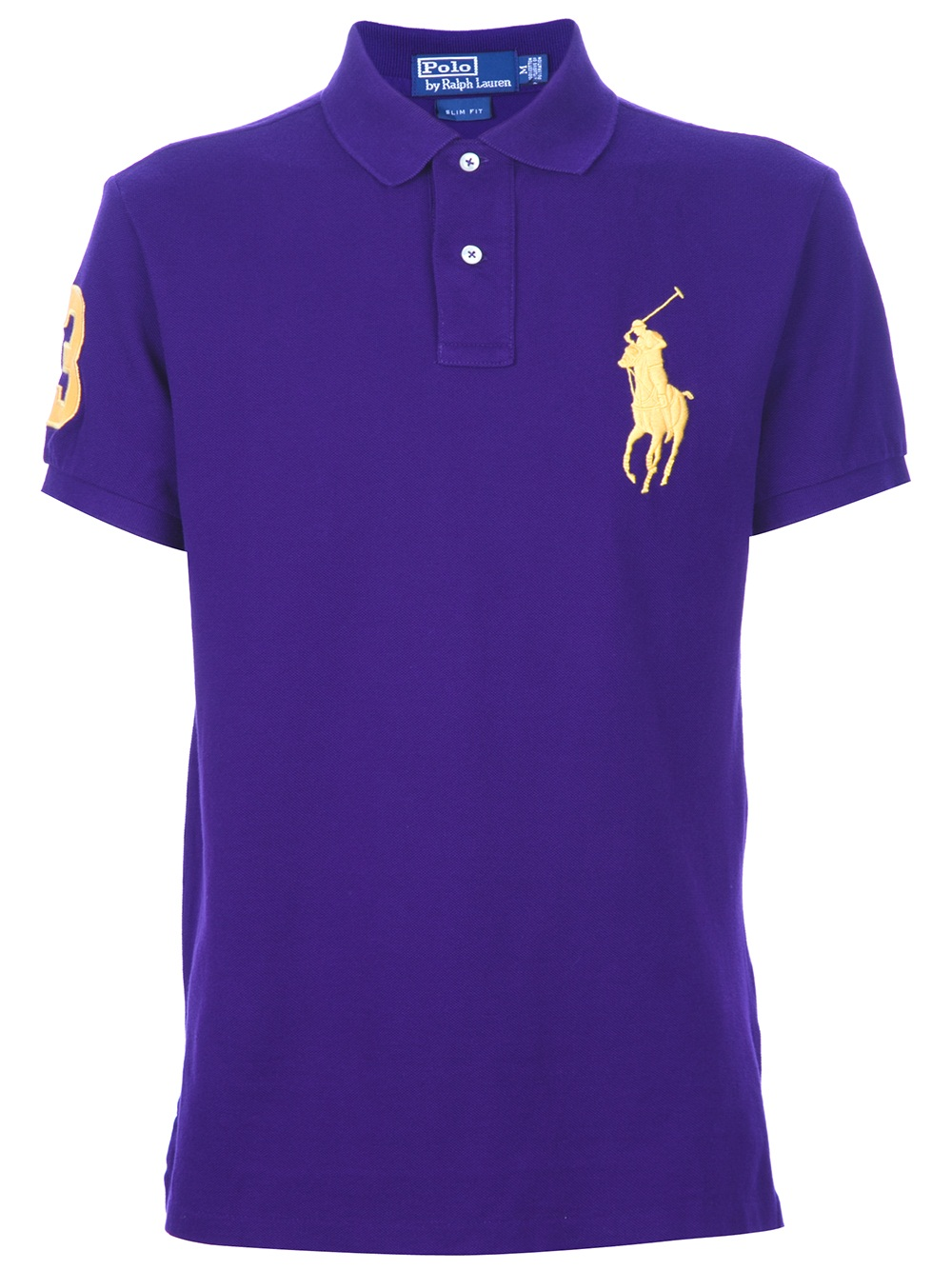 Lyst - Ralph Lauren Blue Label Logo Polo Shirt in Purple ...