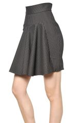 Stella McCartney Pinstriped Stretch Wool Skirt - Lyst