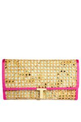 Ted Baker Floral Straw Clutch Bag - Lyst