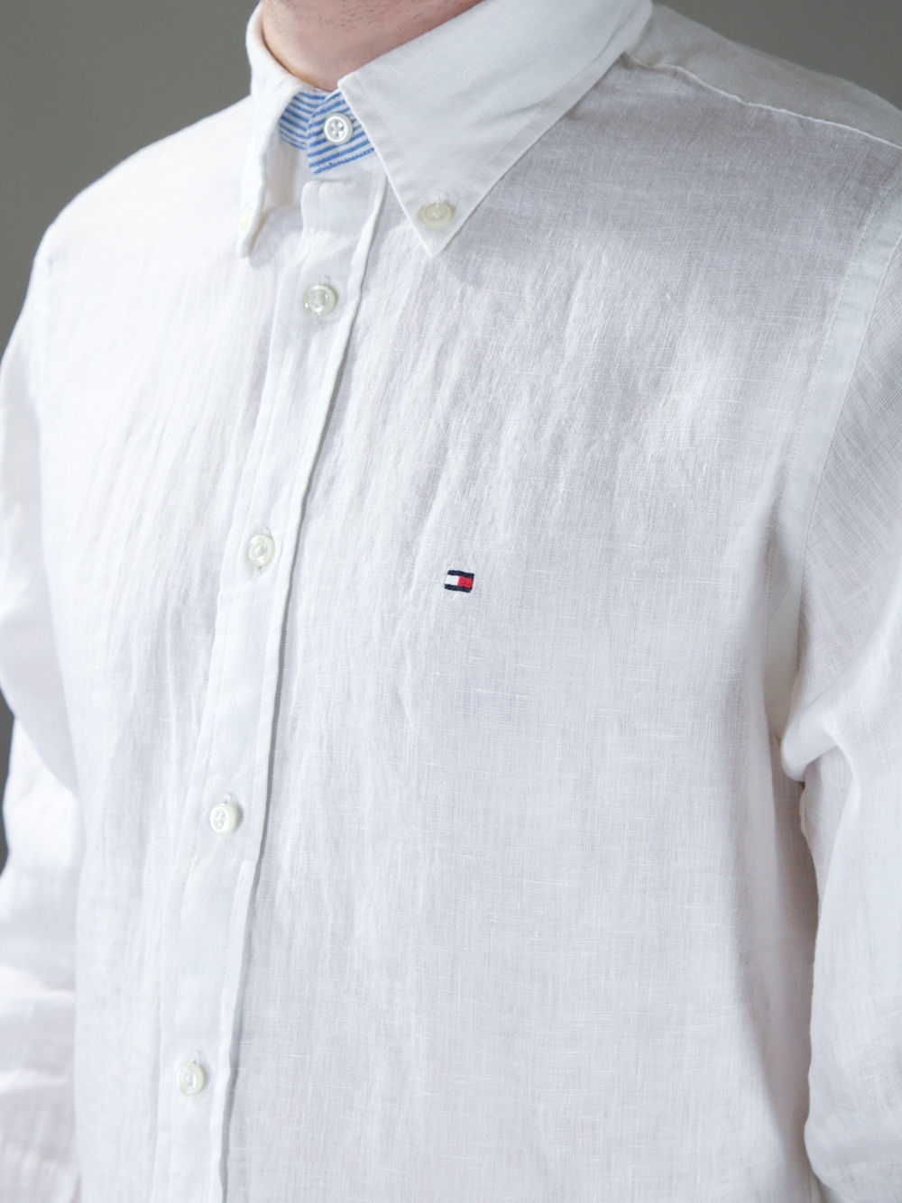 bf50681c3 Tommy Hilfiger Classic Linen Shirt in White for Men - Lyst