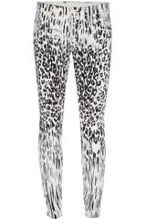 7 For All Mankind The Second Skin Leopard Print Jean - Lyst