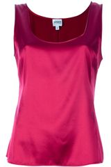 Armani Silk Tank Top - Lyst