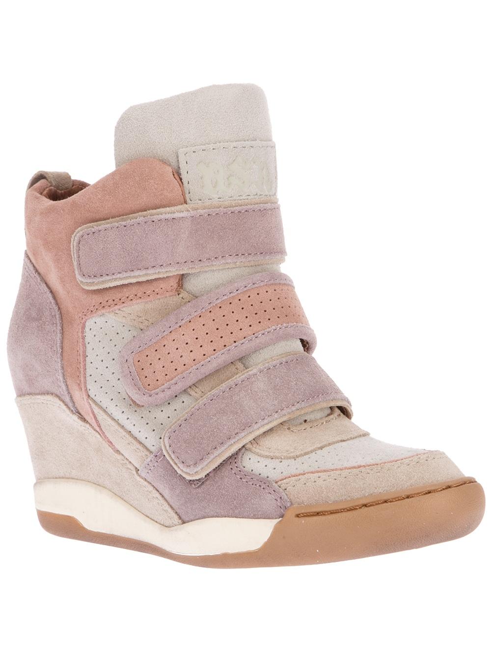 9e396548a Lyst - Ash Alex Wedge Sneaker in Pink