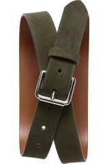 Banana Republic Olive Suede Belt - Lyst