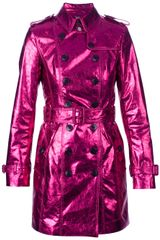 Burberry Prorsum Metallic Trench - Lyst