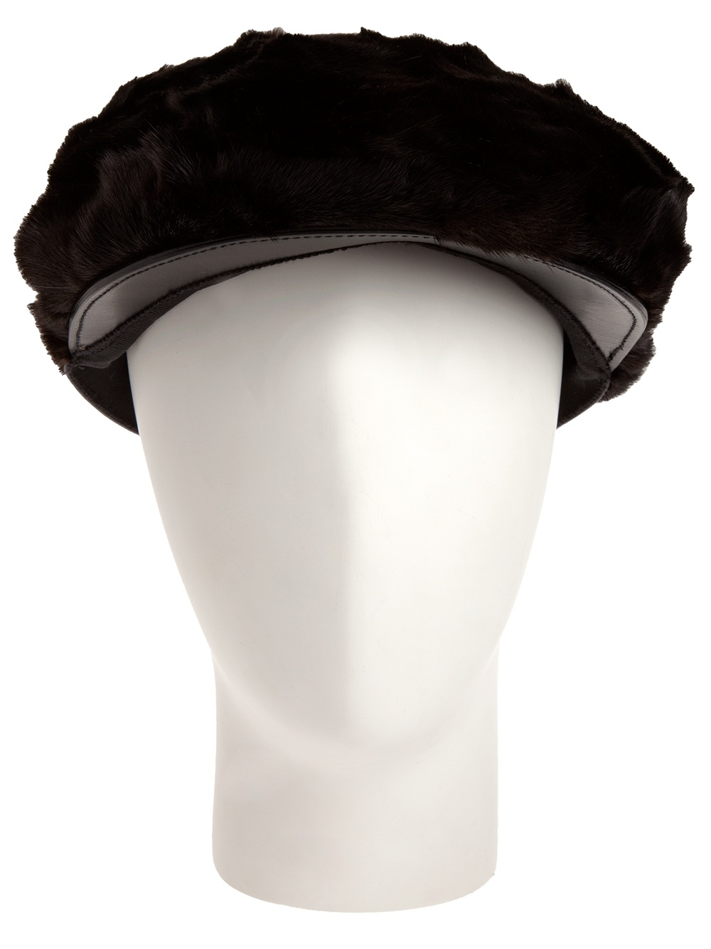 Lyst - Burberry Prorsum Mink Hat in Black 408964ccbea