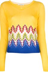 Carven Knitted Long Sleeve Sweater - Lyst