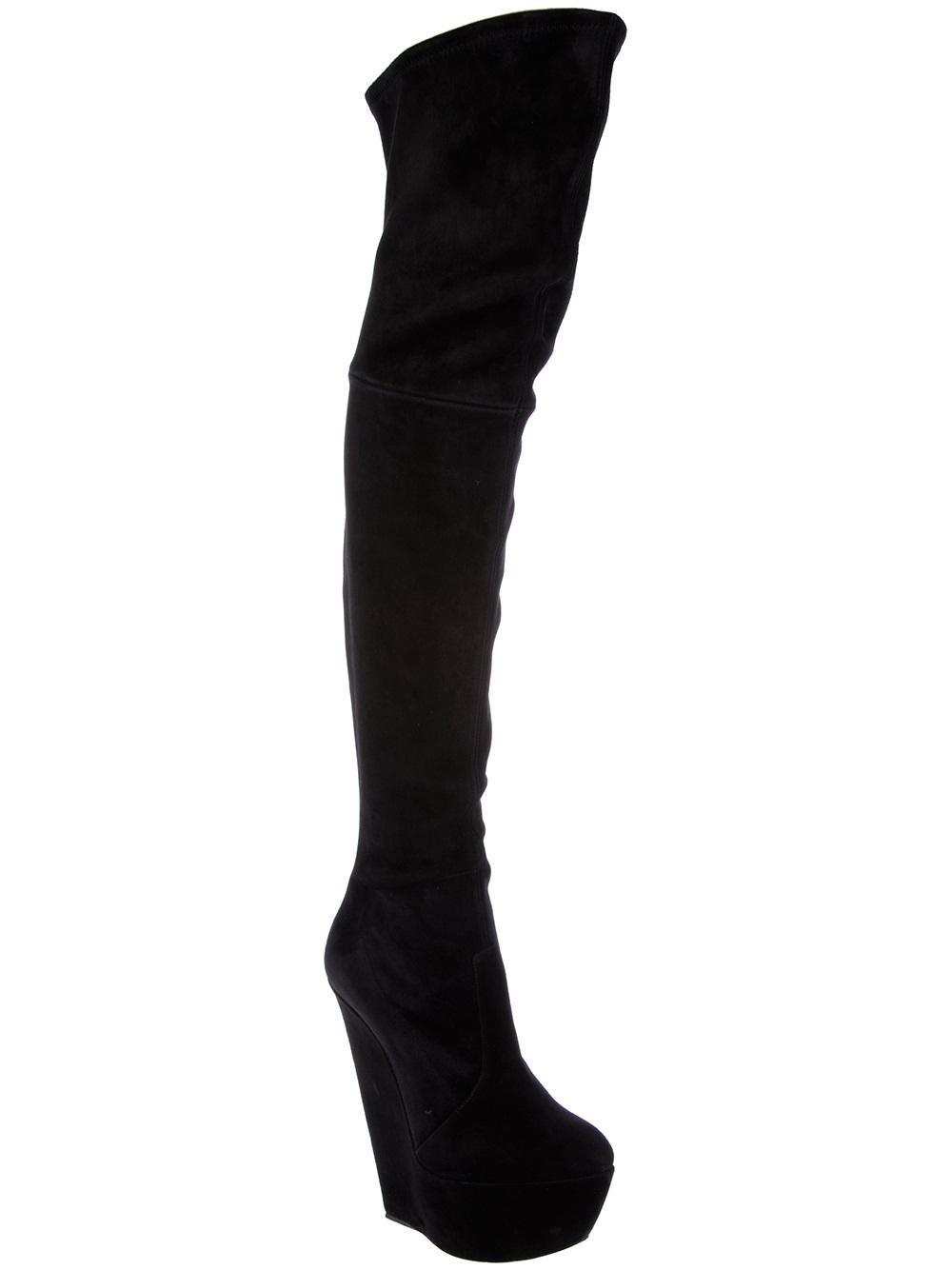 c9dd1e68777 Lyst - Casadei Fitted Thigh High Boot in Black
