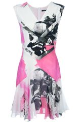 Christopher Kane Floral Print Sleeveless Dress - Lyst