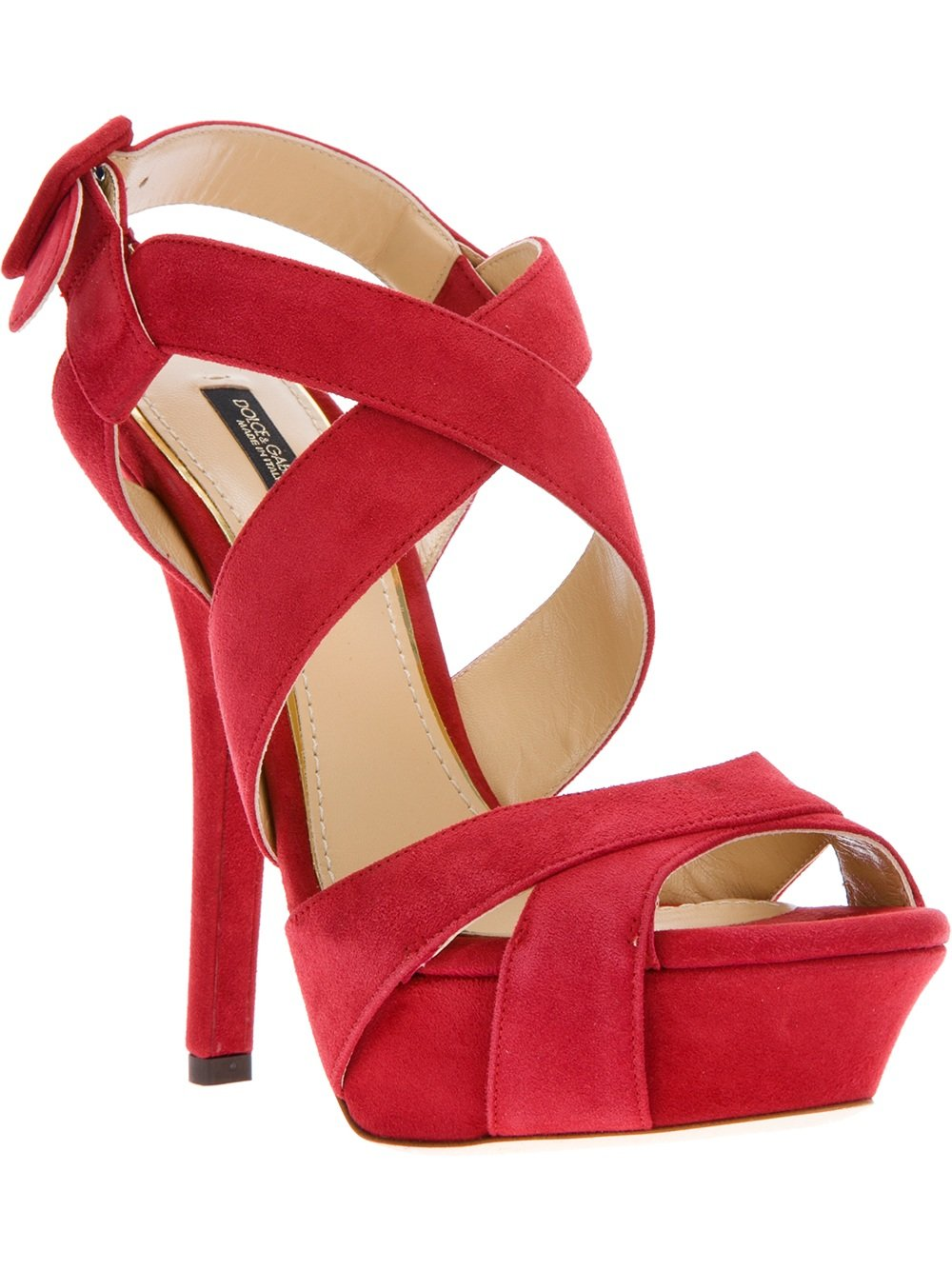 Dolce & gabbana Strappy Sandal in Red | Lyst