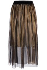 Forte Forte Pleated Silk Skirt - Lyst