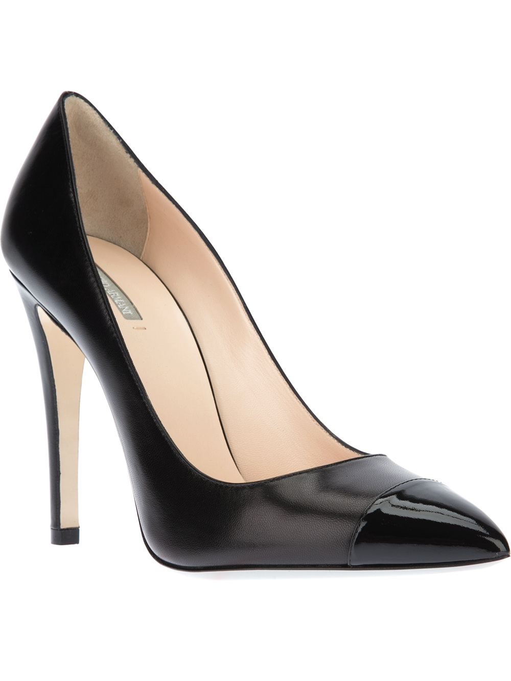 6deb70141ed3 Lyst - Giorgio Armani Pointed Toe Pump in Black