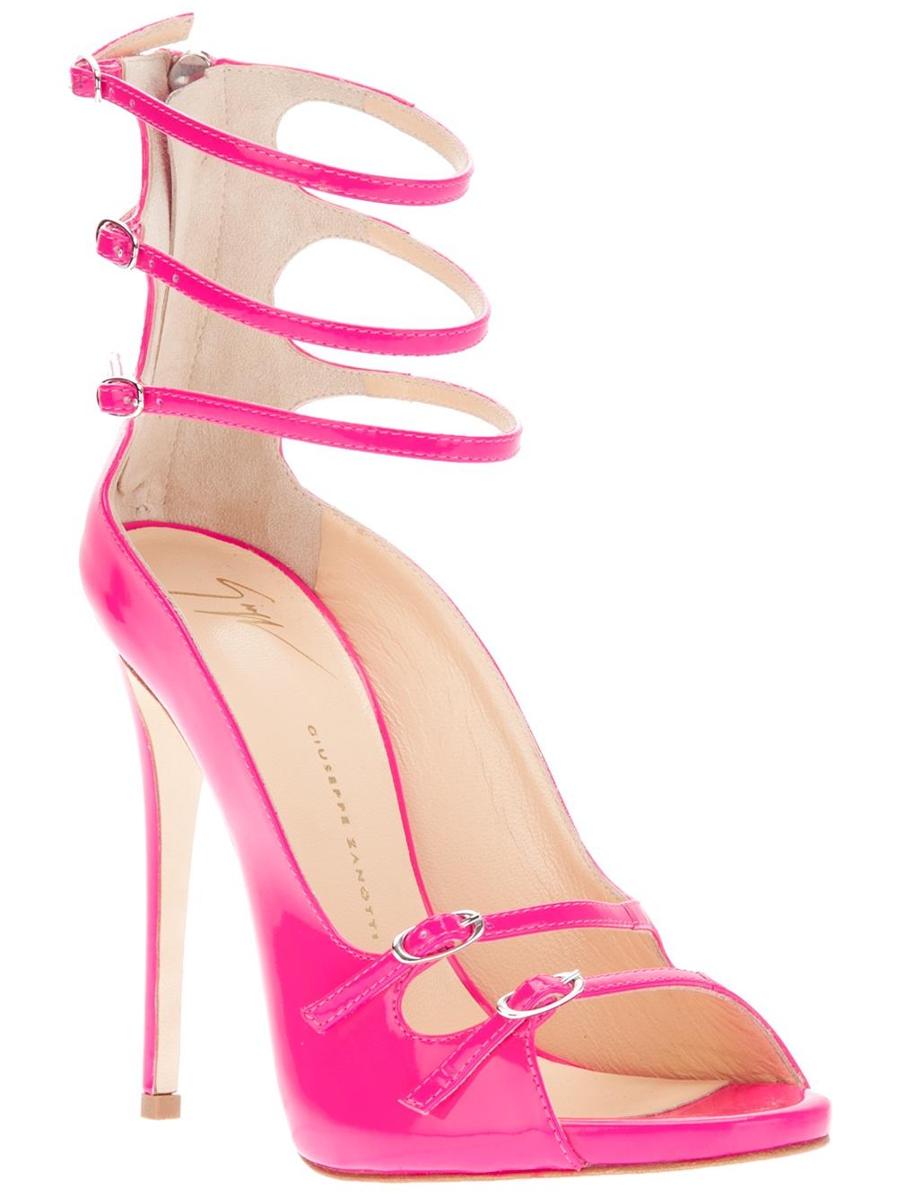 Giuseppe zanotti Strappy Sandal in Pink | Lyst
