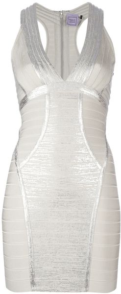 Hervé Léger Sigrid Sleeveless Dress - Lyst
