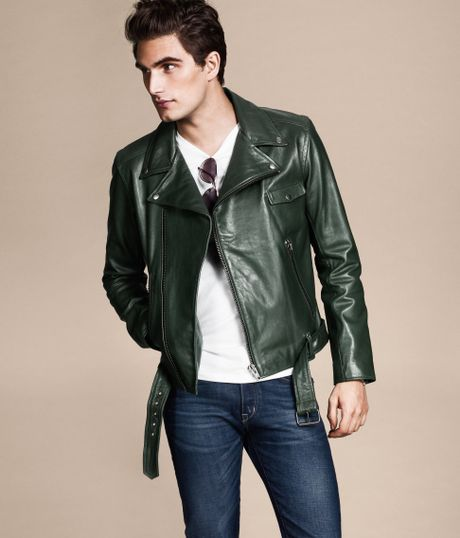 Men H&m Leather Jacket in