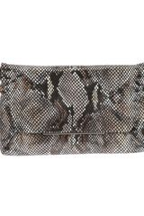 Lanvin Snake Skin Shoulder Bag - Lyst
