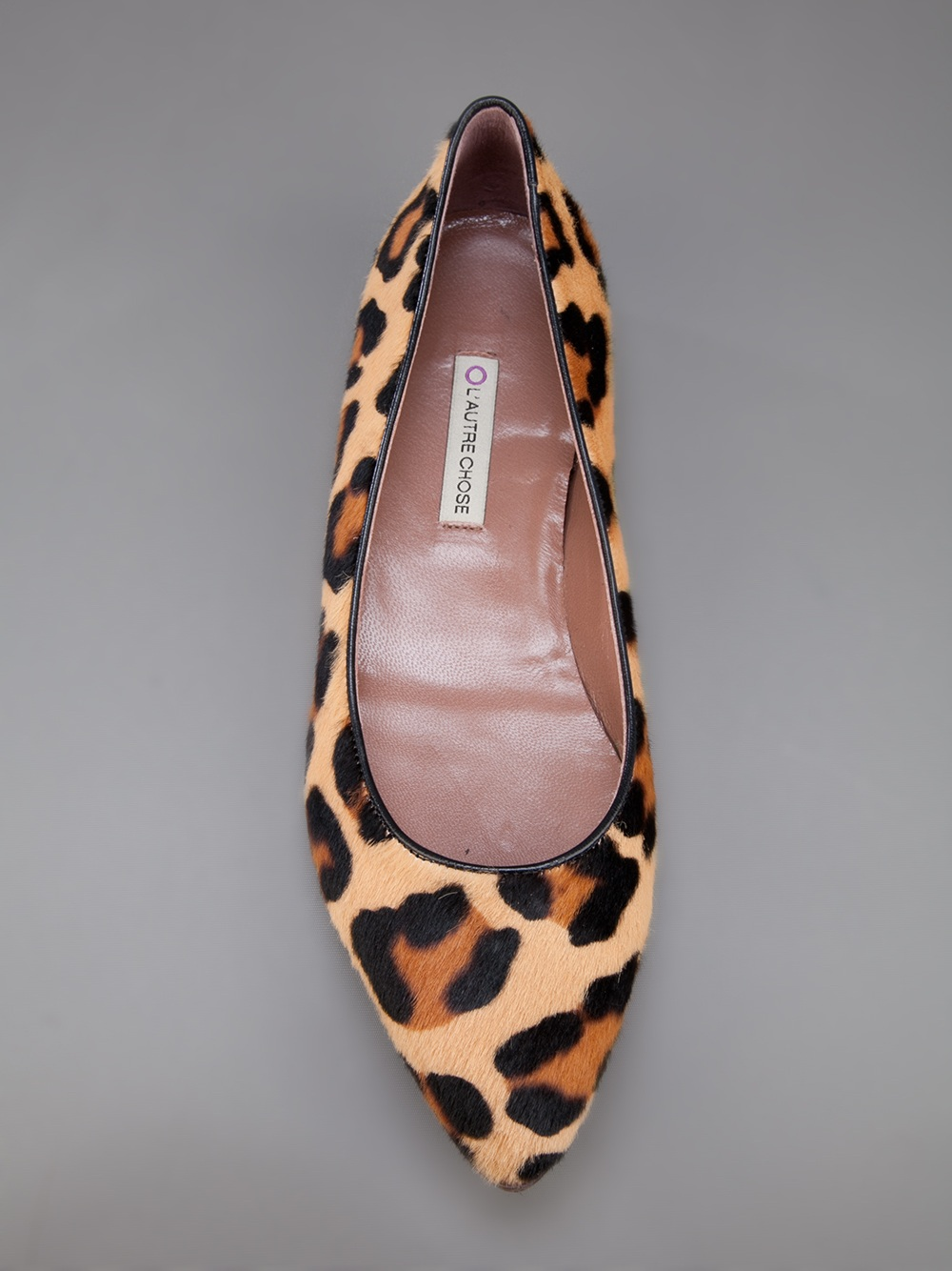 31eebc8155d L'Autre Chose Leopard Print Ballerina Pump - Lyst