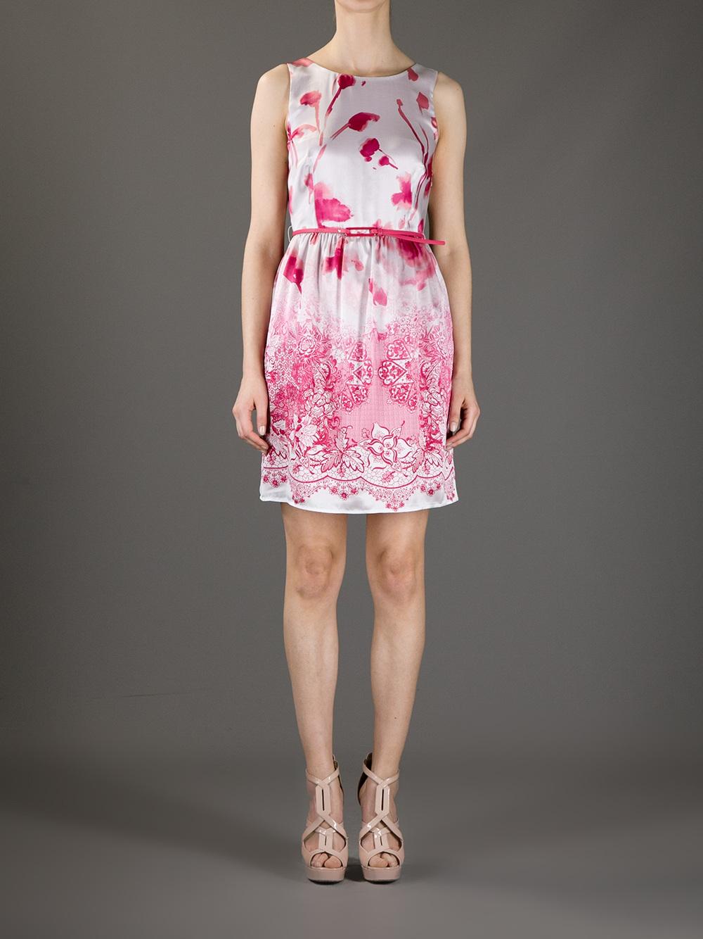 ee675ee2043 Liu Jo Mixed Floral Print Dress in Pink - Lyst