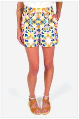 Mara Hoffman High Waisted Shorts in Aloha Print - Lyst