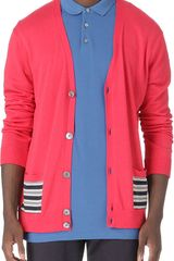 Marc By Marc Jacobs Stripedpanel Cardigan - Lyst