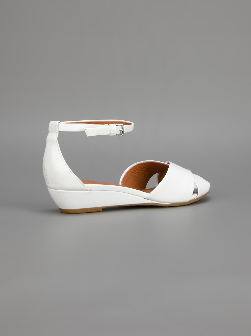 Marc By Marc Jacobs Low Wedge Sandal In White Lyst