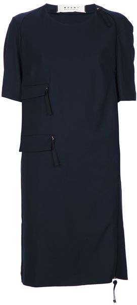 Marni Short Sleeve Dress - Lyst