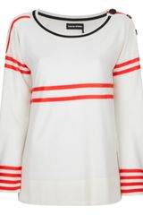 Sonia Rykiel Double Stripe Sweater - Lyst