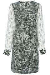 Stella McCartney Blotchy Print Shift Dress - Lyst