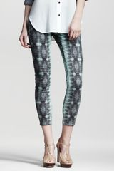 10 Crosby by Derek Lam Lizardprint Skinny Pants - Lyst
