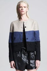 10 Crosby by Derek Lam Twopocket Colorblock Jacket - Lyst