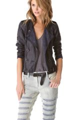 3.1 Phillip Lim Ruffle Leather Jacket - Lyst