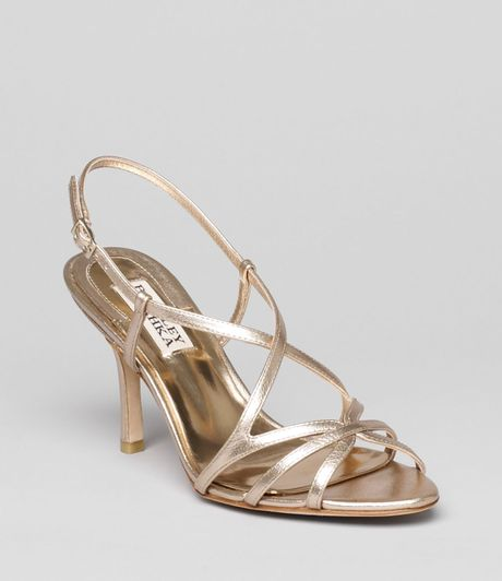 Badgley Mischka Evening Sandals Ava Ii High Heel In Gold