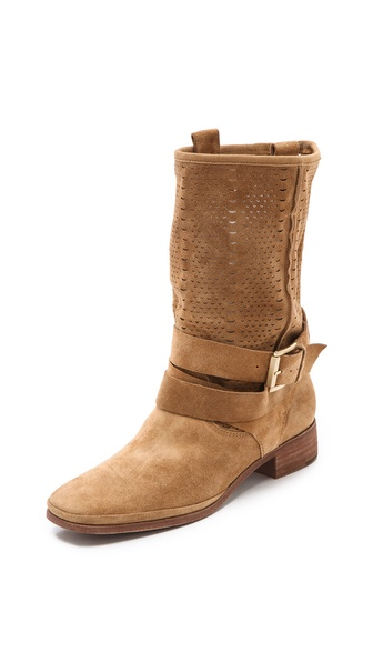 Belle by sigerson morrison Who Perforated Summer Boots in ...