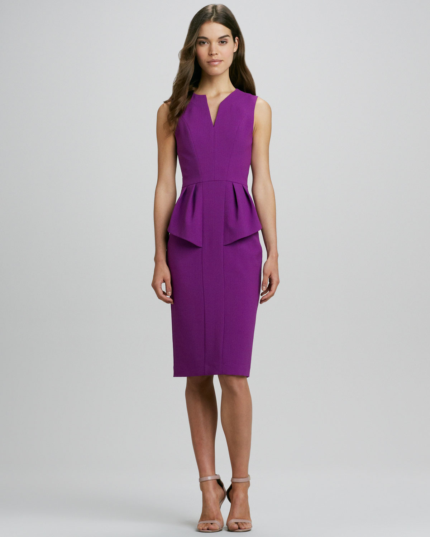 Lyst black halo sashi splitneck peplum dress in purple gallery ombrellifo Image collections