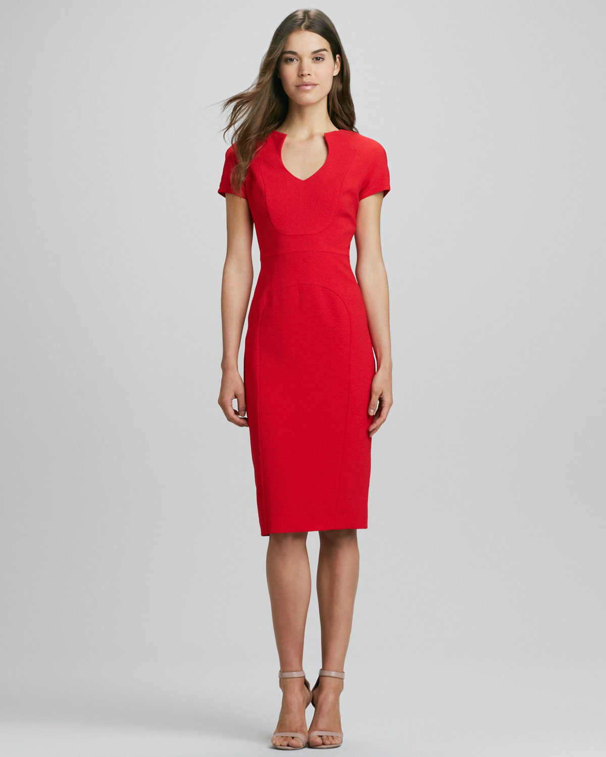 Black halo Gypsy Capsleeve Sheath Dress in Red | Lyst