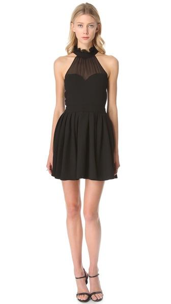 Lyst Blaque Label Halter Top Dress In Black