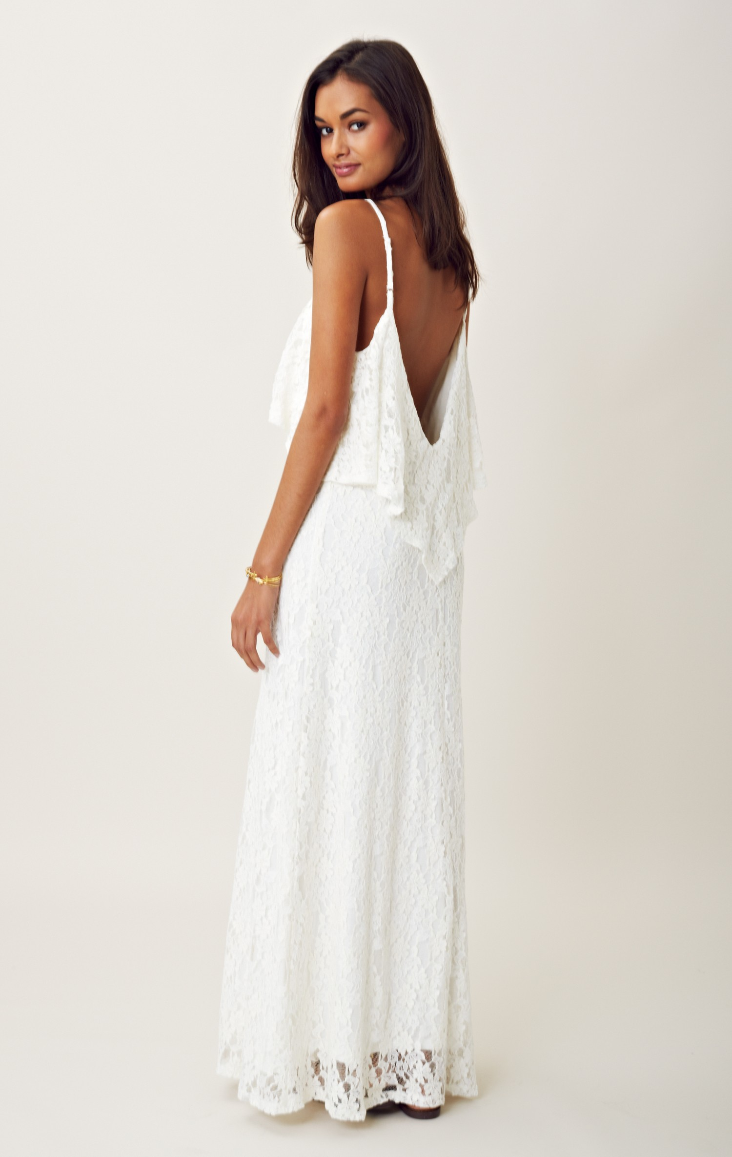 white strapless summer maxi dress | ivo hoogveld
