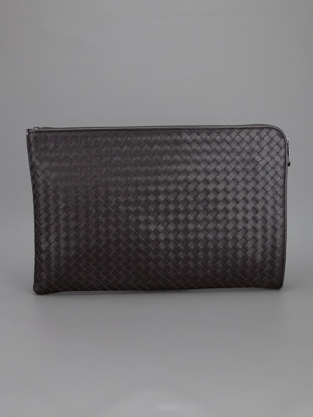 80d564378167 Bottega Veneta Woven Laptop Case in Brown for Men - Lyst