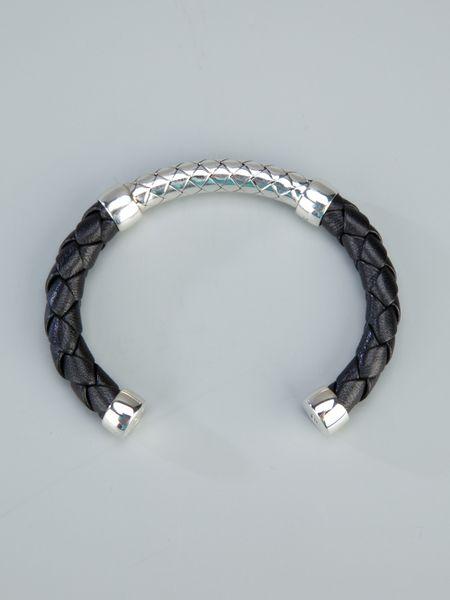 eb6cd6a607c2b Bottega Veneta Intrecciato Silver Bracelet | MIT Hillel