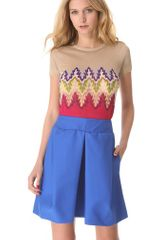 Carven Multicolor Cropped Sweater - Lyst