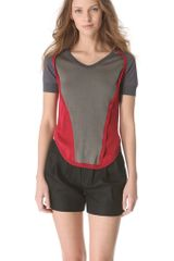 Carven Short Sleeve Color Block Sweater - Lyst