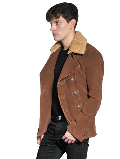 Lyst Corto Maltese Moleskin Detachable Fur Collar Pea
