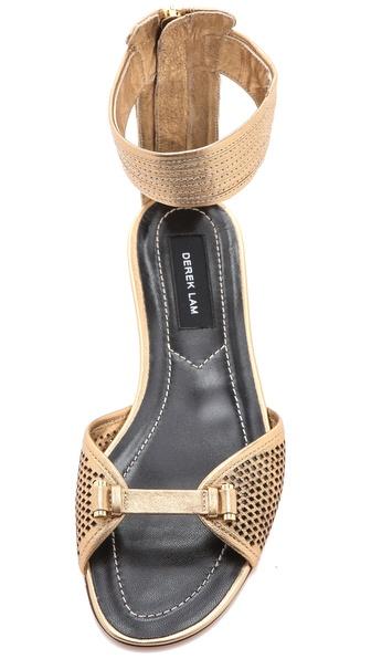 Derek Lam Hurley Flat Sandals In Metallic Lyst