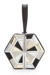 Diane Von Furstenberg Diamond Box Clutch - Lyst
